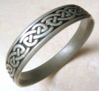 St Justin Pewter Celtic Knot Work Bangle.